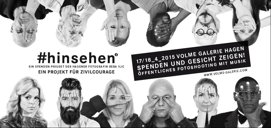 Plakat quer Hinsehen